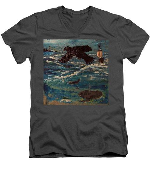 As The Crow Flys Men's V-Neck T-Shirt