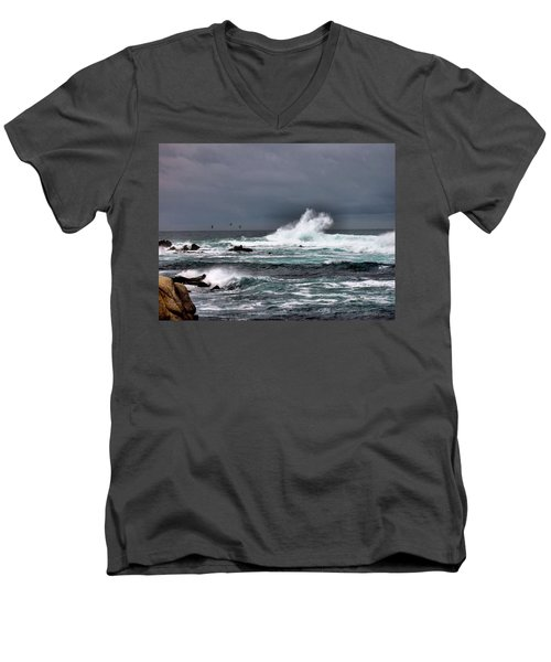 Asilomar 2007 Men's V-Neck T-Shirt by Joyce Dickens