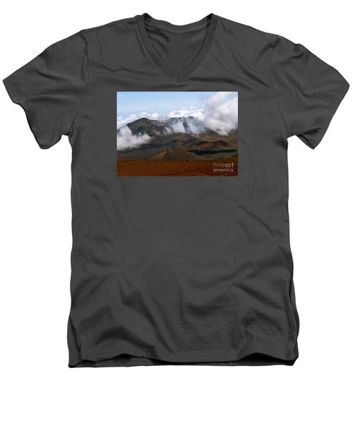 At The Rim Of The Crater Men's V-Neck T-Shirt by Patricia Griffin Brett