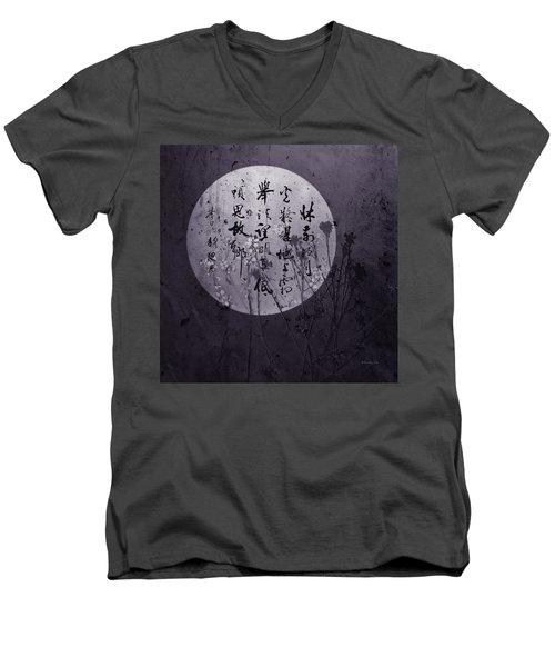 Autumn Full Moon Men's V-Neck T-Shirt