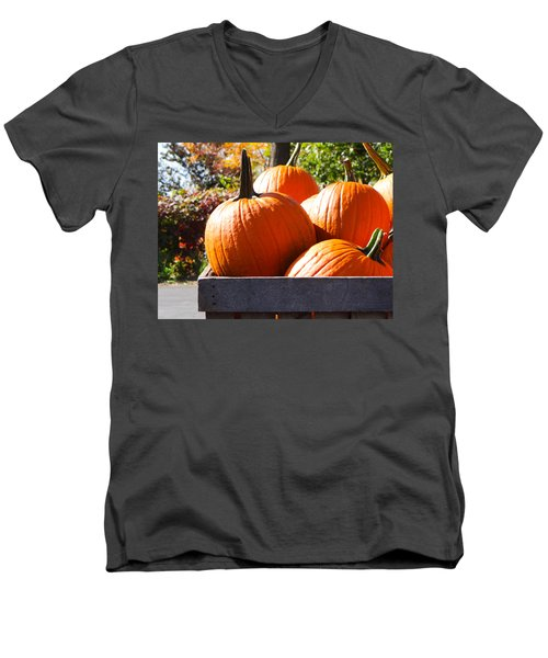 Men's V-Neck T-Shirt featuring the photograph Autumn Harvest by Julia Wilcox