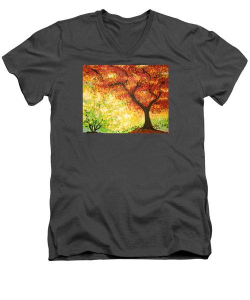 Autumn Rainbow Men's V-Neck T-Shirt