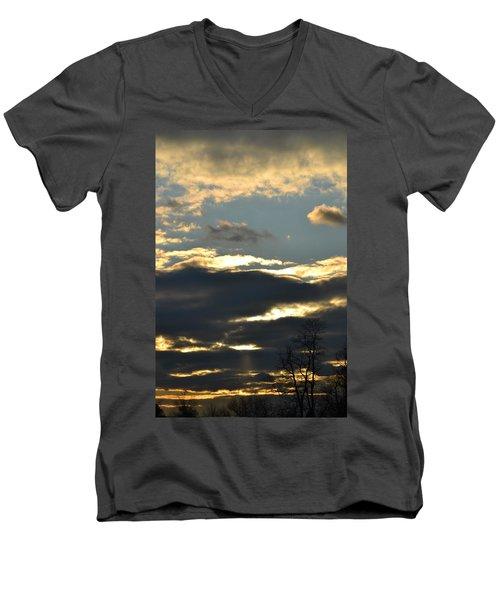 Backlit Clouds Men's V-Neck T-Shirt