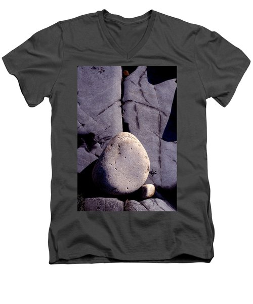 Balancing Act Men's V-Neck T-Shirt by Brent L Ander
