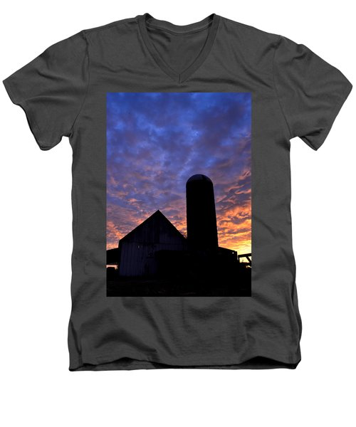 Barnyard Sunrise I Men's V-Neck T-Shirt