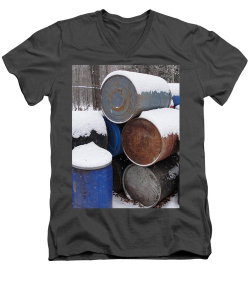 Men's V-Neck T-Shirt featuring the photograph Barrel Of Food by Tiffany Erdman