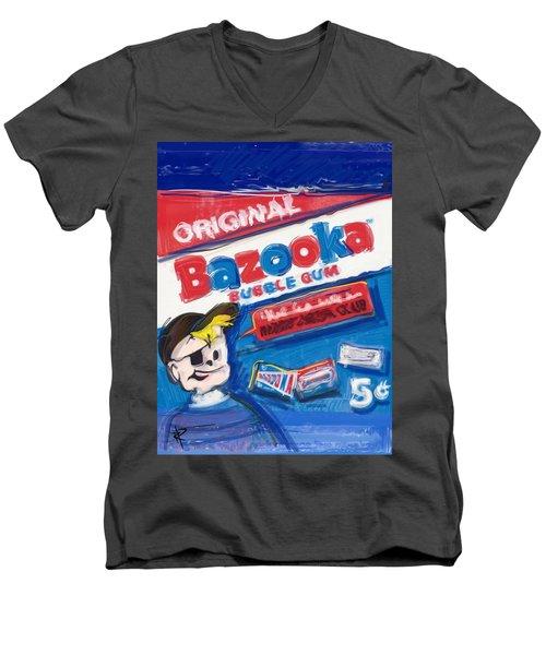 Bazooka Men's V-Neck T-Shirt