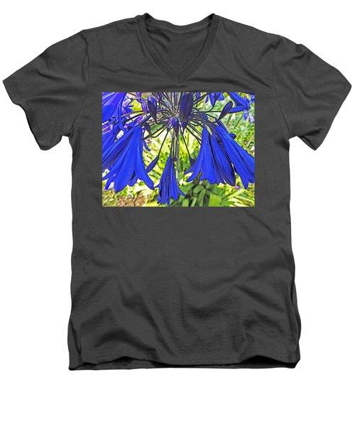Beautiful Bluebells Close-up Men's V-Neck T-Shirt by Anne Mott