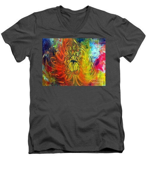 Beautiful Mistake Men's V-Neck T-Shirt by Sandro Ramani