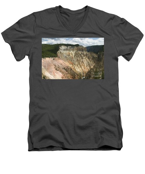Men's V-Neck T-Shirt featuring the photograph Beauty Of The Grand Canyon In Yellowstone by Living Color Photography Lorraine Lynch