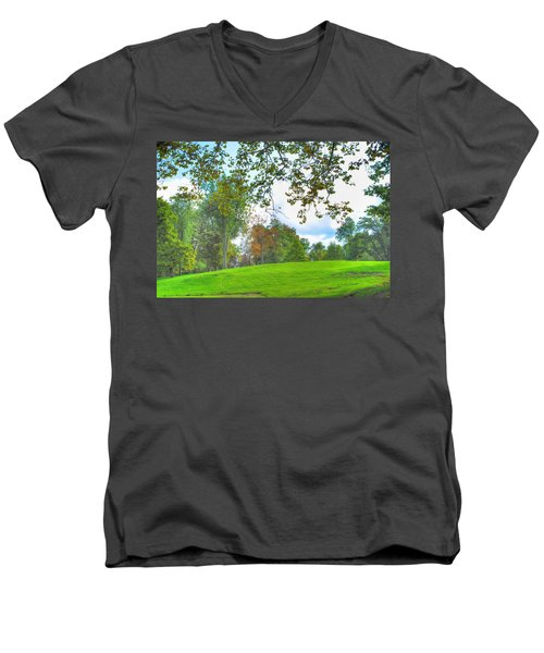Men's V-Neck T-Shirt featuring the photograph Beginning Of Fall by Michael Frank Jr