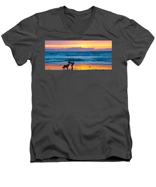 Men's V-Neck T-Shirt featuring the photograph Bella At Sunrise by Alice Gipson
