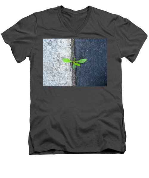 Men's V-Neck T-Shirt featuring the photograph Grows Here by John King