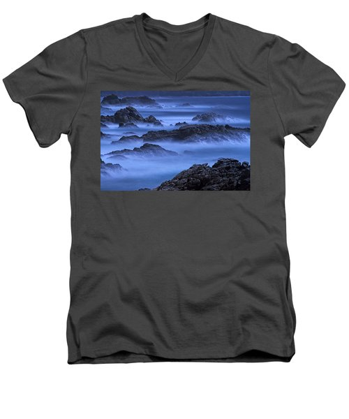 Big Sur Mist Men's V-Neck T-Shirt by William Lee