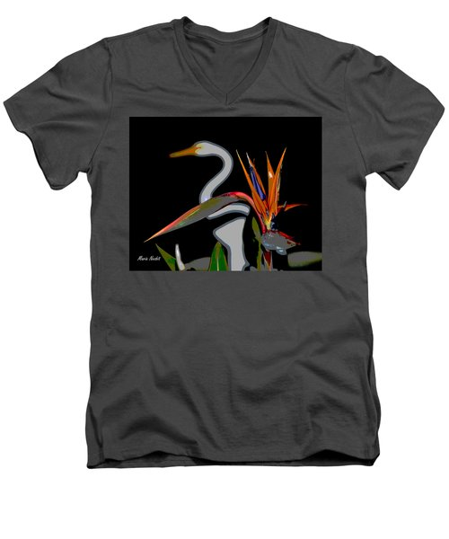 Birds In My Paradise... Men's V-Neck T-Shirt