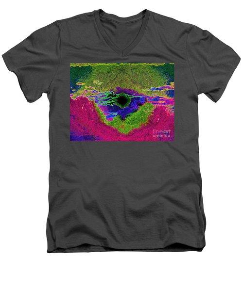 Black Hole Sun Men's V-Neck T-Shirt