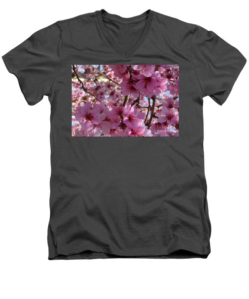 Men's V-Neck T-Shirt featuring the photograph Blossoms by Lydia Holly