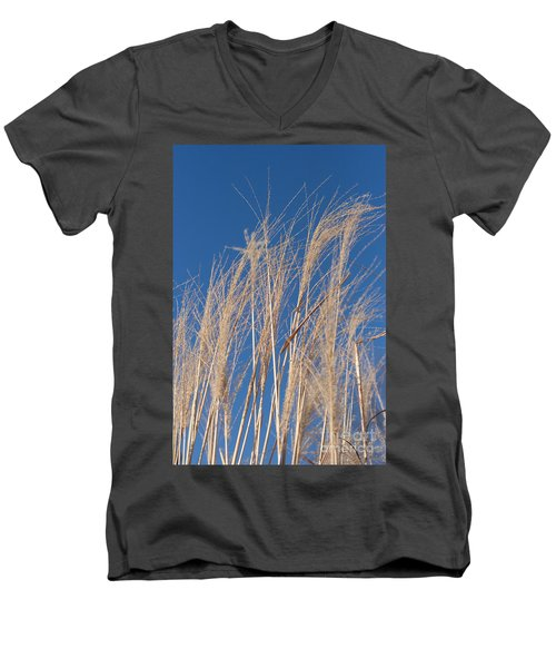 Men's V-Neck T-Shirt featuring the photograph Blowing In The Wind by Barbara McMahon