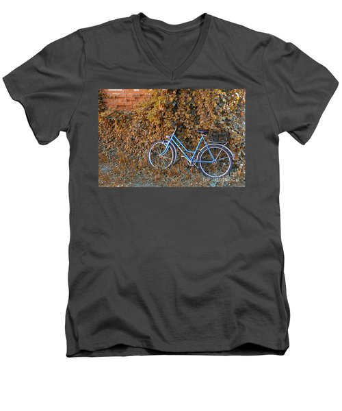 Blue Bike Men's V-Neck T-Shirt