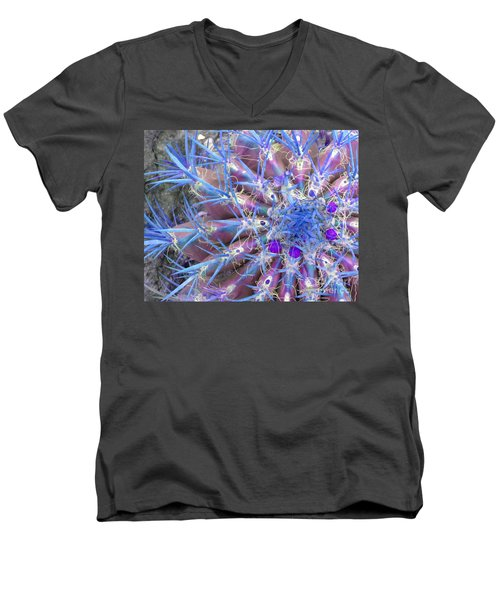 Blue Cactus Men's V-Neck T-Shirt