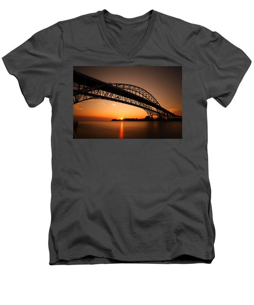 Men's V-Neck T-Shirt featuring the photograph Blue Dawn by Gordon Dean II