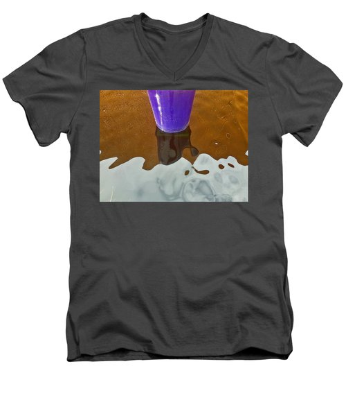 Men's V-Neck T-Shirt featuring the photograph Blue Planter by David Pantuso