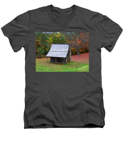Blue Ridge Cabin Men's V-Neck T-Shirt