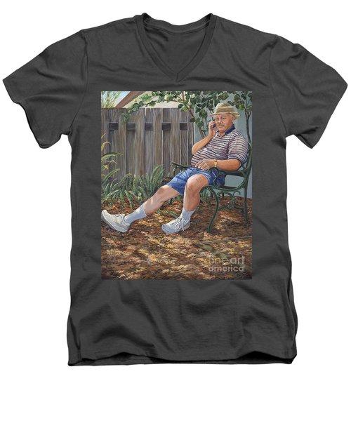 Blue Royal Men's V-Neck T-Shirt