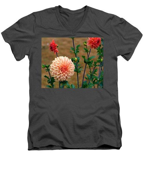 Bodaciously Orange Men's V-Neck T-Shirt by Jeanette C Landstrom