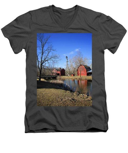 Bonneyville Mill Men's V-Neck T-Shirt