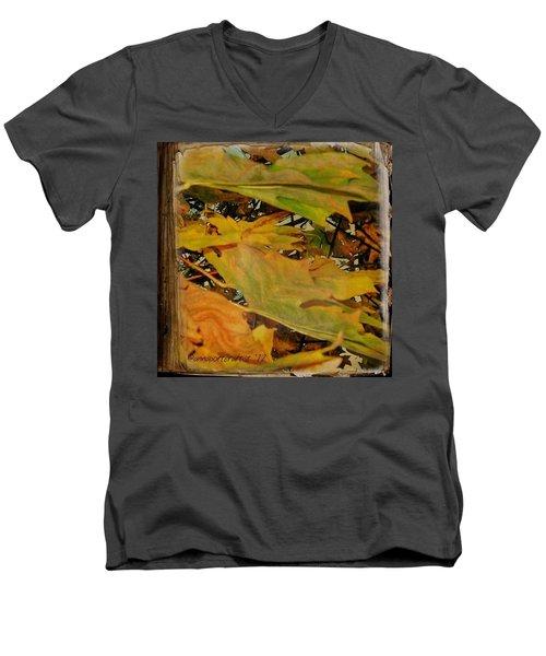 Book Of Leaves  Men's V-Neck T-Shirt