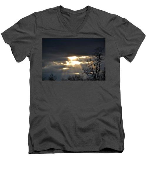Break In The Clouds Men's V-Neck T-Shirt