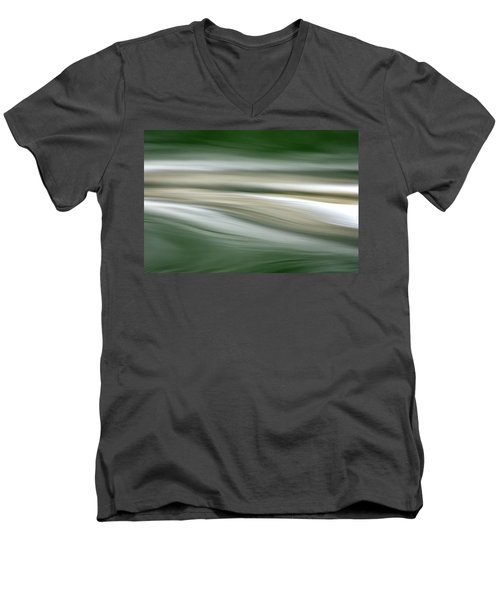 Breath On The Water Men's V-Neck T-Shirt by Cathie Douglas
