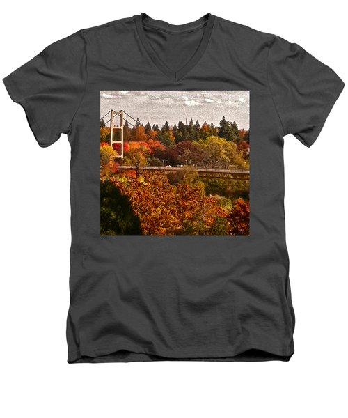 Men's V-Neck T-Shirt featuring the photograph Bridge by Bill Owen