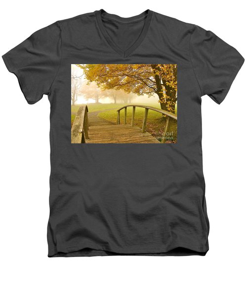 Bridge To Autumn Men's V-Neck T-Shirt
