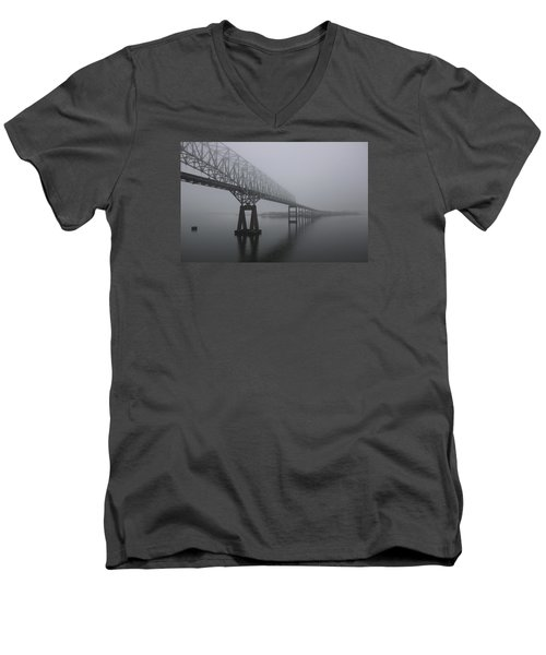 Bridge To Nowhere Men's V-Neck T-Shirt by Shelley Neff