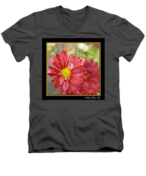 Men's V-Neck T-Shirt featuring the digital art Bright Edges by Debbie Portwood