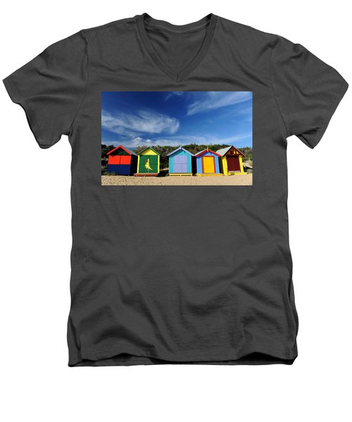 Men's V-Neck T-Shirt featuring the photograph Brighton Beach by Yew Kwang
