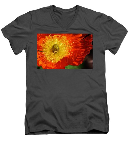 Bursting Peony Men's V-Neck T-Shirt