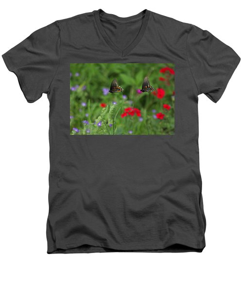 Butterfly Chase Men's V-Neck T-Shirt