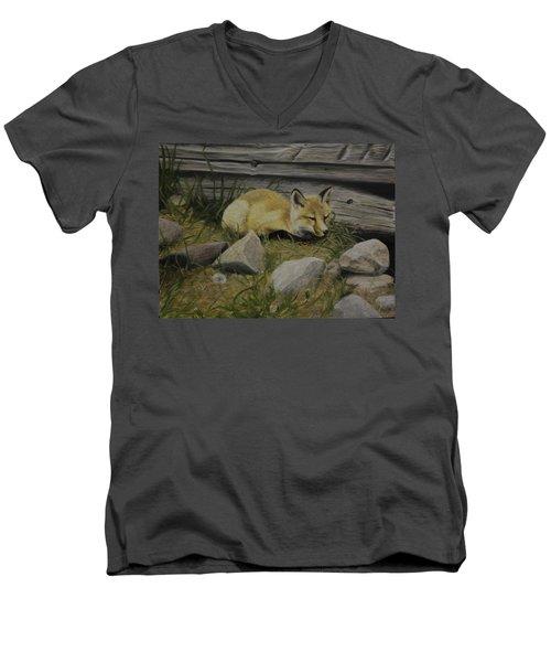 By The Den Men's V-Neck T-Shirt