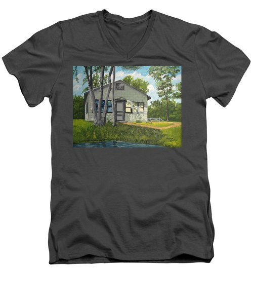 Cabin Up North Men's V-Neck T-Shirt