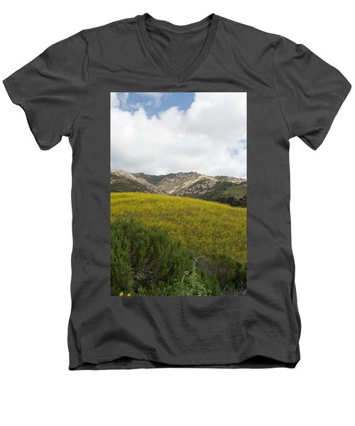 California Hillside View V Men's V-Neck T-Shirt
