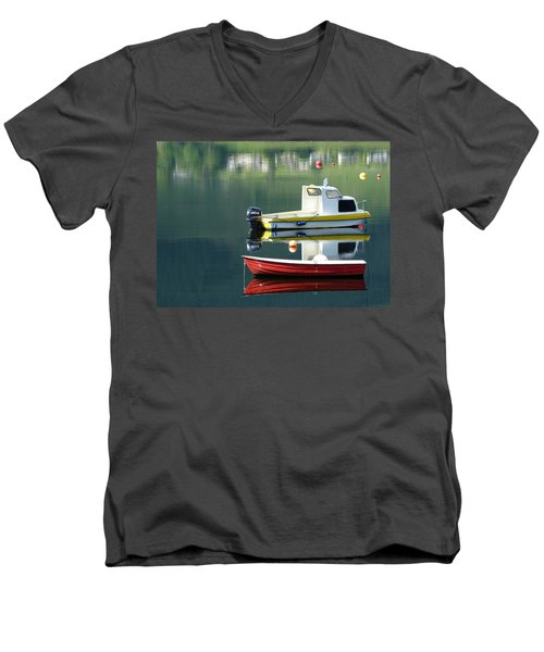 Men's V-Neck T-Shirt featuring the photograph Calm Waters by Lynn Bolt