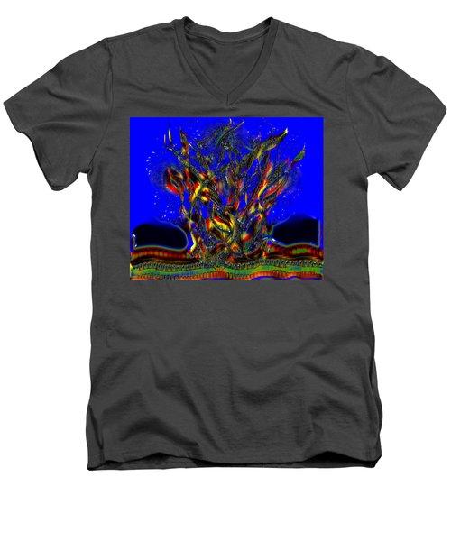 Camp Fire Delight Men's V-Neck T-Shirt by Alec Drake