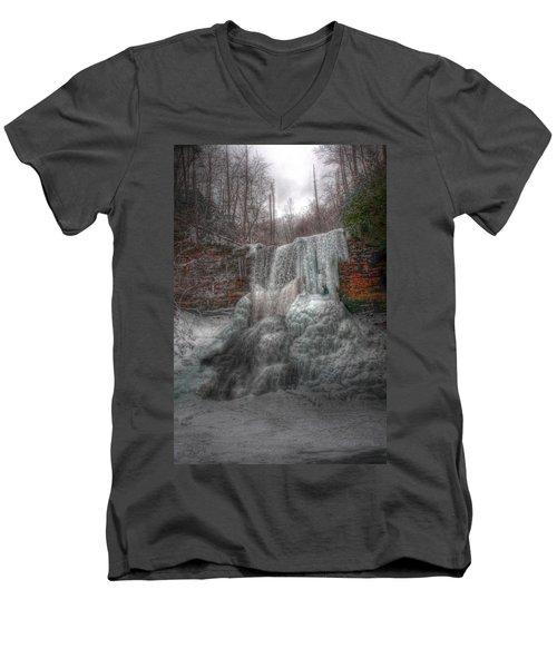 Cascades In Winter 3 Men's V-Neck T-Shirt