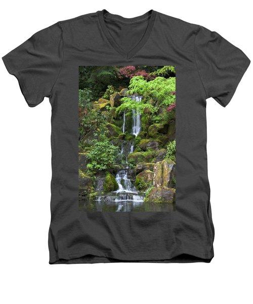 Cascading Waters Men's V-Neck T-Shirt