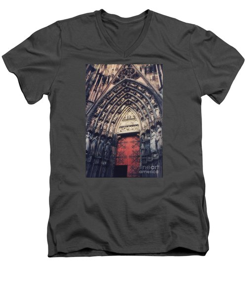 Cathedral Men's V-Neck T-Shirt by Paul  Wilford