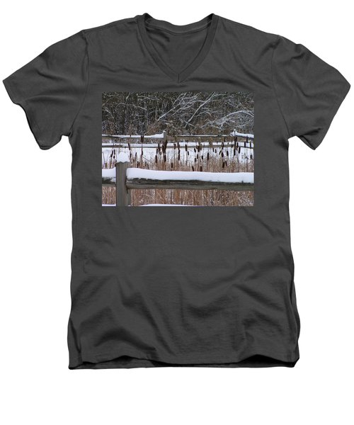 Cattails In The Pond Men's V-Neck T-Shirt