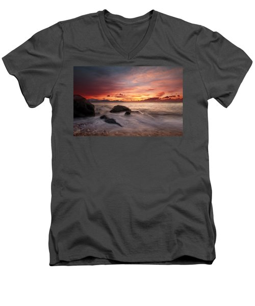 Celtic Sunset Men's V-Neck T-Shirt
